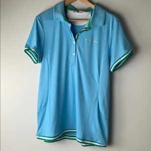BMW blue and green polo shirt size extra large